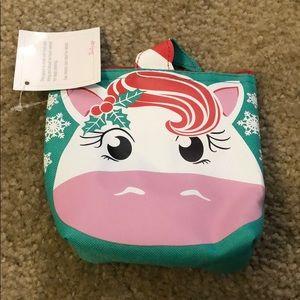 Thirty-one Cool Zip Snacker Holiday Unicorn NEW